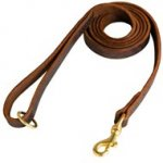 Stitched Leather Boxer Leash for Training and Walking