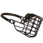 Frost-Resistant Wire Cage Boxer Muzzle with One Adjustable Strap
