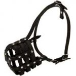 Walking and Training Leather Cage Boxer Muzzle
