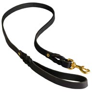 Walking Training Leather Boxer Leash Braided