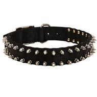 Boxer Nylon Collar Spiked