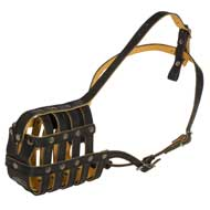 Royal Nappa Leather Basket Boxer Muzzle
