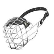 Wire Cage Boxer Muzzle With One Strap