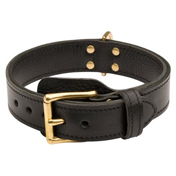 Boxer  Leather Collar with Easy in Use Buckle