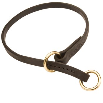 Boxer Obedience Training Choke  Leather Dog Collar