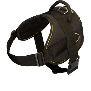 Nylon All Weather Boxer Harness for Service Dogs