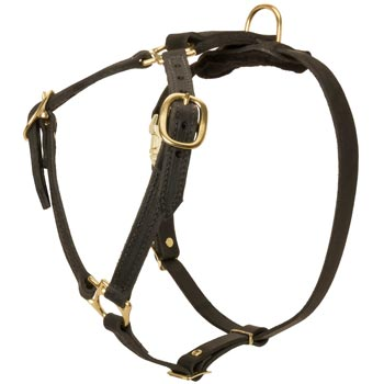 Leather Boxer Harness Light Weight Y-Shaped for Tracking Dog