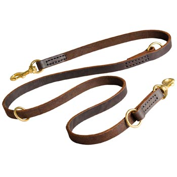 Leather Leash for Boxer Everyday Walking