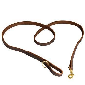 Durable Leather Boxer Leash
